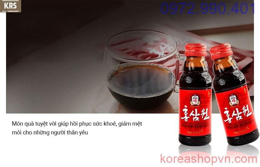 Nước tăng lực hồng sâm Hàn Quốc