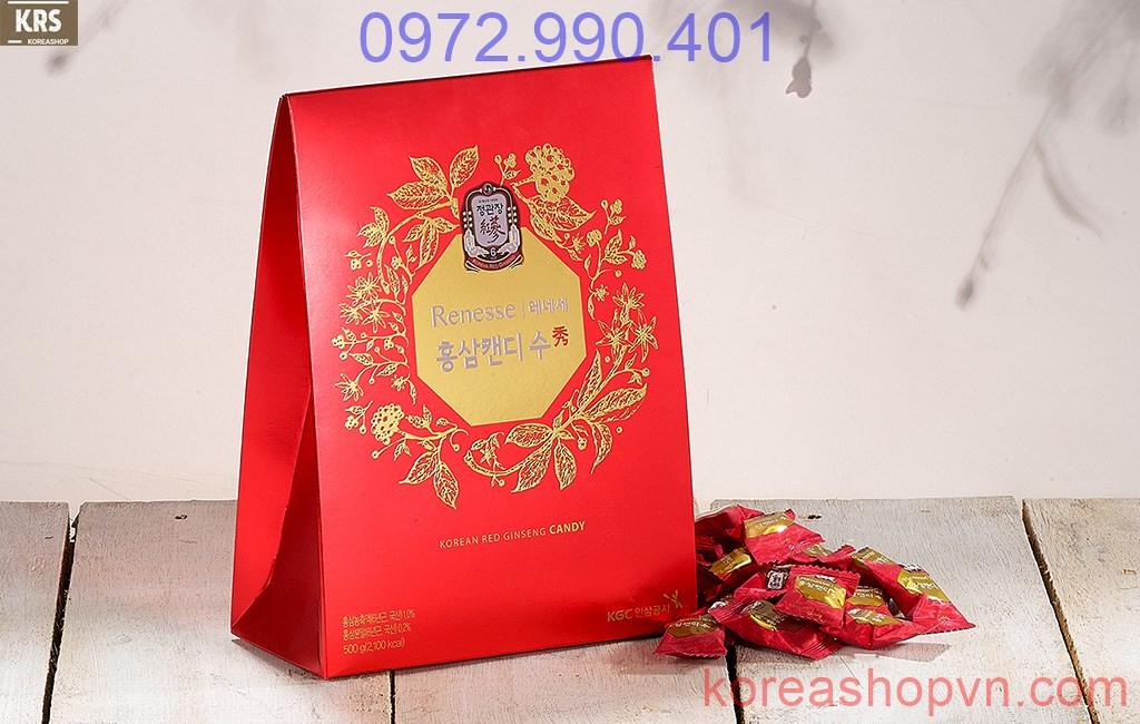Kẹo hồng sâm hàn Quốc 120g, 240g, 500g