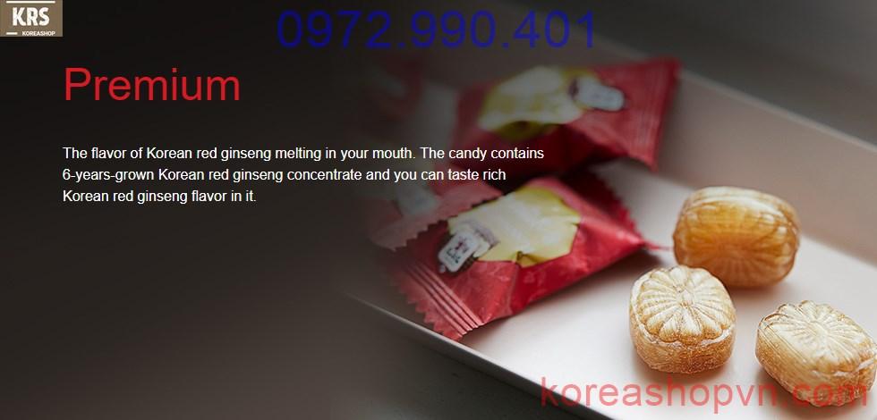 Kẹo hồng sâm Hàn Quốc KGC