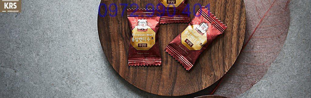 Kẹo sâm không đường Hàn Quốc
