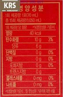 Thành phần dinh dưỡng trong nước hồng sâm WON - KGC