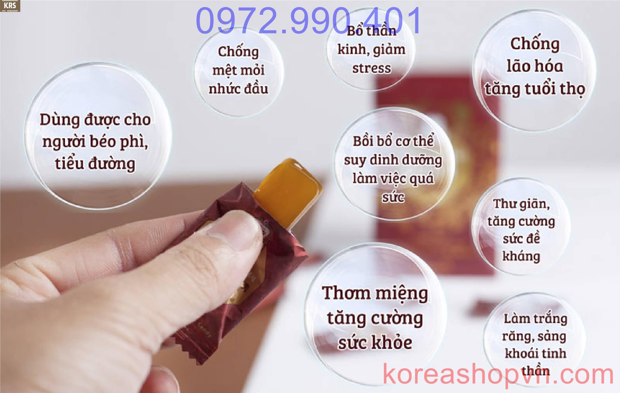 Kẹo hồng sâm Hàn Quốc không đường Candy Surgar Free 180g